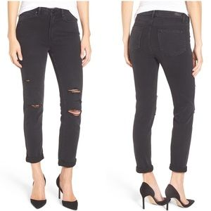 PAIGE Hoxton Crop Rollup High Waist Skinny Jeans